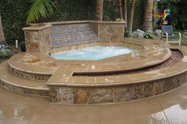 installation outdoor tub hot tubs garden large jacuzzi prices