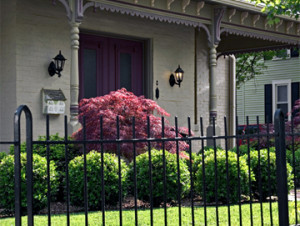 Wrought Iron Fence Offers See Through Protection